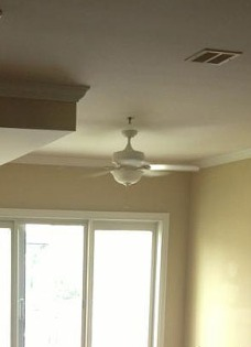ceiling fan before